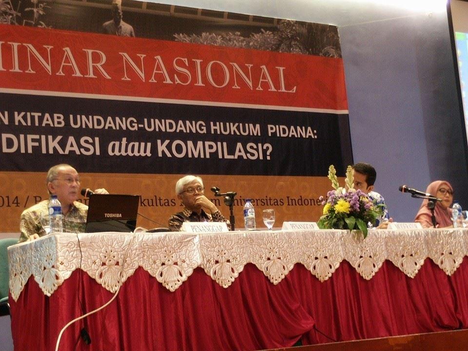 Dosen BL sebagai pembicara di seminar nasional tentang revisi KUHP