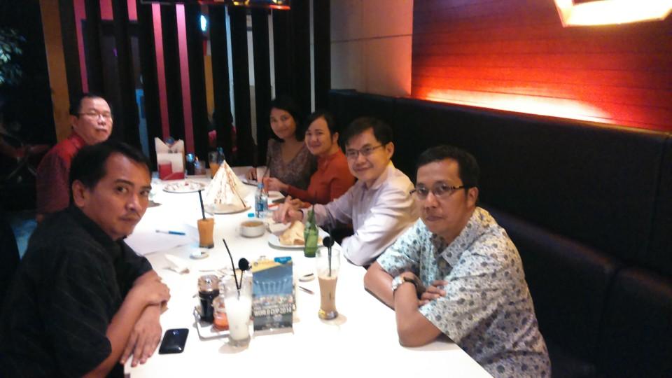 Rapat persiapan seminar bersama rekan-rekan dari EuroCham dan Rouse Lawfirm