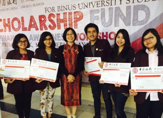 Mahasiswa BL berprestasi mendapat beasiswa Bank of China