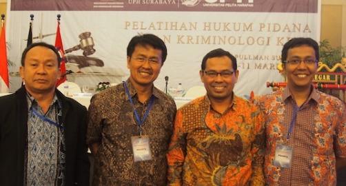 Pelatihan hukum pidana dan kriminologi, 9-10 Maret 2015 di Surabaya