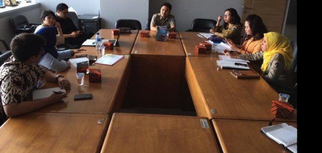 Suasana diskusi penyusunan Raperda DKI Jakarta tentang Perlindungan Kekayaan Intelektual Dalam Kegiatan Usaha Perdagangan, Perindustrian dan Pariwisata.