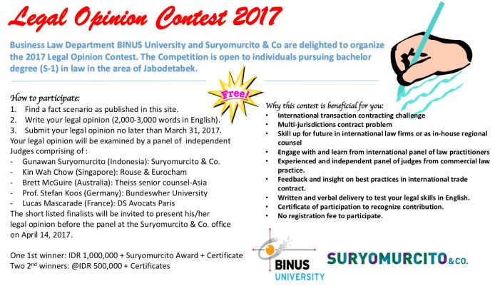 LEGAL OPINION WRITING CONTEST 2017