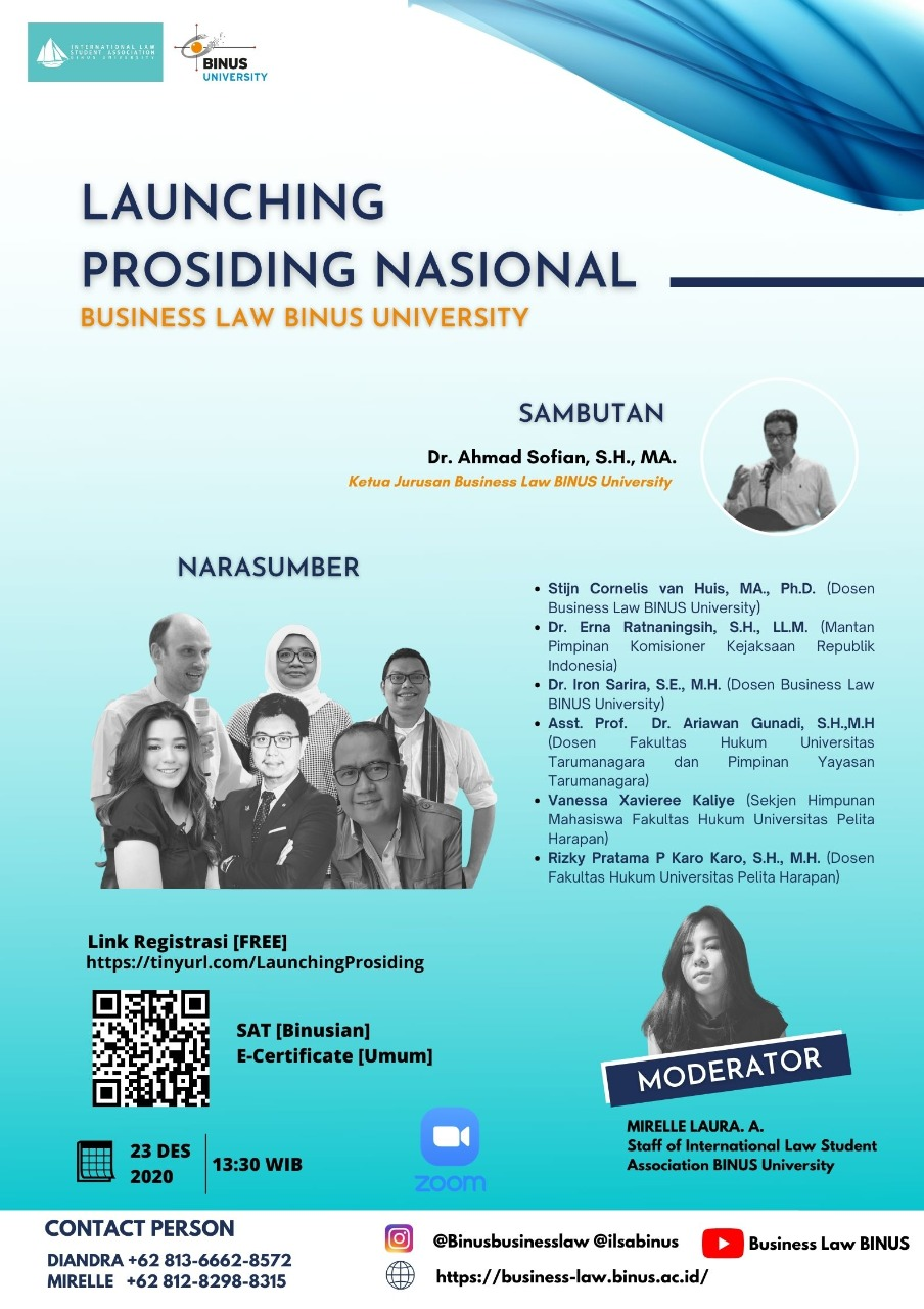 LAUNCH: BUSINESS LAW BINUS NATIONAL PROCEEDING