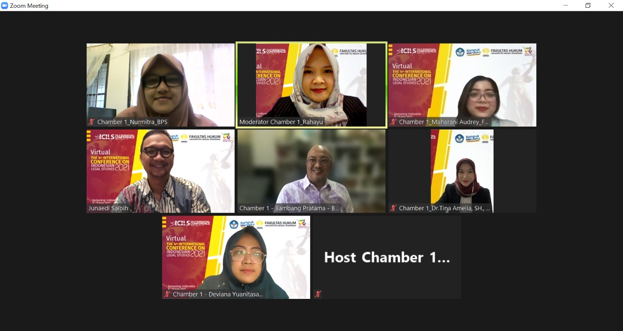 Virtual The 4th Internasional Conference on Indonesian Legal Studies