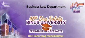 DIES NATALIS KE-10 BUSINESS LAW